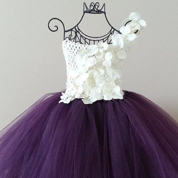 Single Shoulder Straps TEENAGER Girl Dress White Pink Purple Tutu Dresses For Party Girls Birthday Ball Gown 10 12 14 PT08 - Brides & Bridesmaids - Wedding, Bridal, Prom, Formal Gown