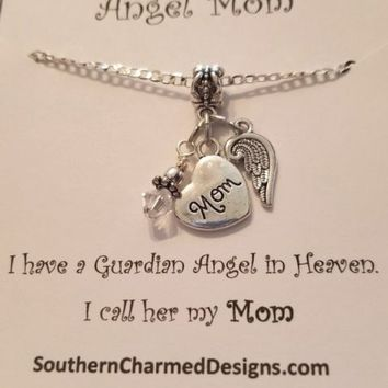 Angel Mom, Loss of Mom, Death of Mom, Memorial Gift, Sympathy Gift Dad Son