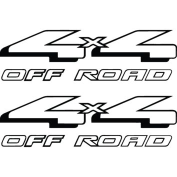 Ford F-150 and F-250 (1997 - 2004) replacement 4x4 Off Road bedside vinyl graphic decals - Style 08F (No Shadow) OEM