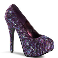 Bordello Teeze-06R Purple Satin Iridescent