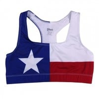 Tyler's :: WOMENS :: APPAREL :: ATHLETIC TOPS :: TX FLAG BRA