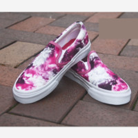 """Vans"" Casual Shoes   RED cloud print  low tops Shoes"