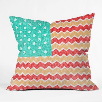 Nick Nelson Zig Zag Flag Outdoor Throw Pillow