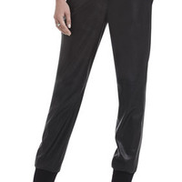 BCBG Women's Sugi Faux-Leather Sporty Pant