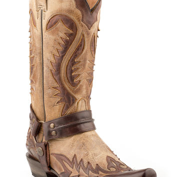 Stetson Mens Outlaw Toe Boots Distressed Brown W Harness 13 Shaft