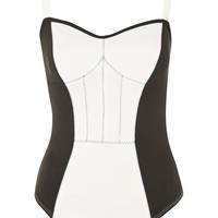 PETITE Corset Seam Bodysuit - Tops - Clothing
