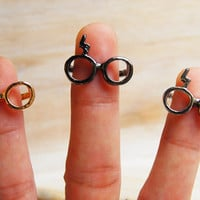 iHarry  glasses and lightning rings inspired by TuesdaysAndFridays