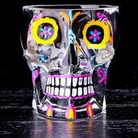 Colorful Skull Glass Transparent Crystal Skull Head Shot Glass