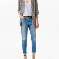 TWISTED YARN CARDIGAN - Knitwear - Woman - ZARA United States