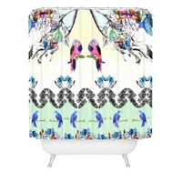 CayenaBlanca Dreamy Jungle Shower Curtain
