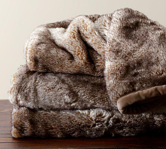 Faux Fur Throw Caramel Ombre From Pottery Barn Dream