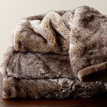 Shop Faux Fur Throw Blanket On Wanelo