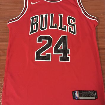 Chicago Bulls #24 Lauri Markkanen Red Basketball Jersey