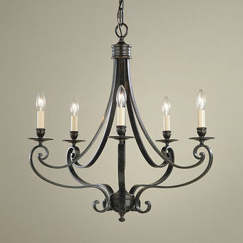 Murray Feiss Cervantes 5 Light Bronze Candle Chandelier - F1929/5LBR