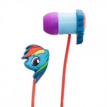 My Little Pony Rainbow Dash Rubber Ear Bud Headphones - My Little Pony - | TV Store Online
