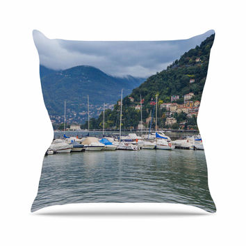 "Violet Hudson ""Italian Harbor"" Multicolor Coastal Throw Pillow"
