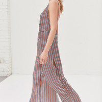 SIR The Label Zoe Slit Wide-Leg Jumpsuit | Urban Outfitters