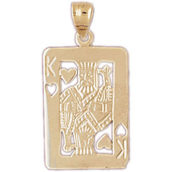 14K GOLD GAMBLING CHARM - PLAYING CARD #5439