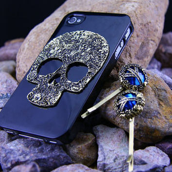 Iphone 4 4s case cover, skull,Skullcandy iphone 4 4s case,Black bling iphone 4 4s