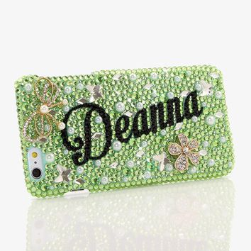 GLITTER, GREEN, & GORGEOUS GLEAM Personalized Name & Initials Design (style PN_1102)