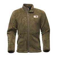 Men's Campshire Full Zip Sherpa Fleece in Burnt Olive Green by The North Face