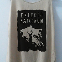 Expecto Patronum V.2 Magic Spell Tshirt Pop Punk Rock Tank Top Vest Women T shirt  T-Shirt SizeS,M,L