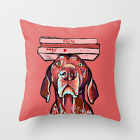 German  shorthaired pointer Throw Pillow by Cartoon Your Memories