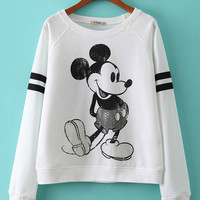 Mickey Mouse Print Knitted Sweatshirts