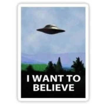 X-Files I Want To Believe Sticker