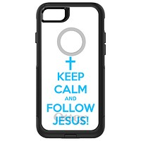 DistinctInk™ OtterBox Commuter Series Case for Apple iPhone or Samsung Galaxy - Keep Calm and Follow Jesus
