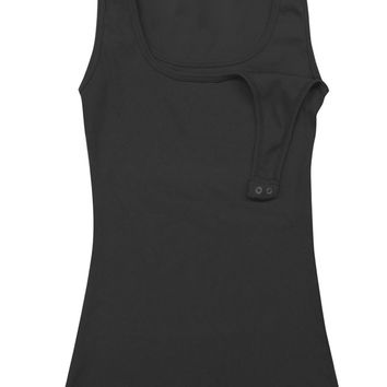 Bun Maternity & Nursing Tank {Black}