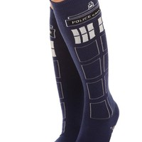 Doctor Who TARDIS Knee-High Socks - 300339