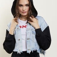 In Distress Crop Jacket