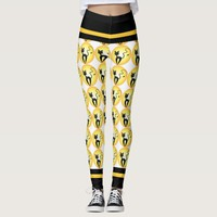 Cute Halloween Black Cat Full Moon Leggings