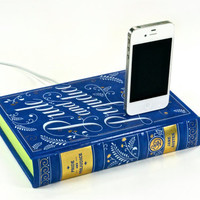 Pride and Prejudice Book Charger  iPhone 4S and iPod by CANTERWICK