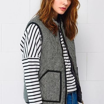 Womens Keep It Warm Herringbone Vest
