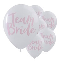 10pcs/lot Romantic Lovely Team Bride Round Latex Balloon Valentine's Day Hen Night Wedding Bachelorette Party Decor