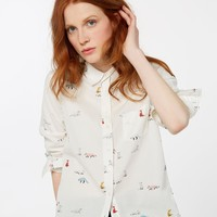 Lucie Cream Foxtrot Classic Fit Shirt | Joules US