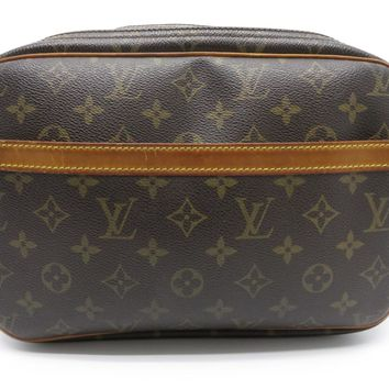 Louis Vuitton Monogram Reporter PM Shoulder Bag Brown 1858