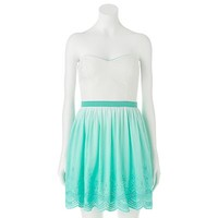 Trixxi Dip Dye Eyelet Dress - Juniors