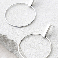 Take Shape Silver Earrings