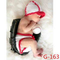 Newborn Baby Girls Boys Crochet Knit Costume Photo Photography Prop = 4457637188