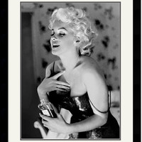 "0-017805>28x36"" Ed Feingersh Marilyn Monroe Chanel No. 5 Framed Print"