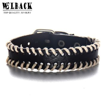 Welback Fashion Jewelry Rope Vintage Country Breath West Cowboy Style Punk Euramerican Leather Bracelets For Yong People