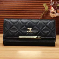 CHANEL Women Leather Multicolor Wallet Purse