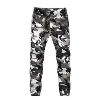 2017 Camouflage Tactical Pants Mens Joggers Camo Pants Mens Sweatpants Army Slim Fit Skinny Trousers Male Asian 5XL,JA269