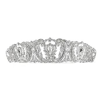 Retro Chic Vintage Wedding Tiara with French Pave Crystals