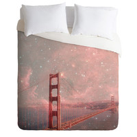 Bianca Green Stardust Covering San Francisco Duvet Cover