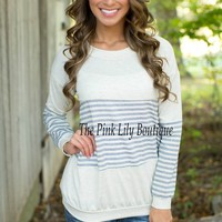 Pursuit Of Stripes Oatmeal Sweater