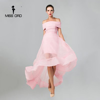 Free Shipping Missord 2017 Sexy word shoulder organza dress  FT4366-1